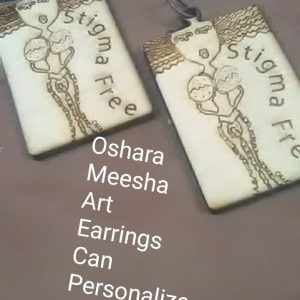 Oshara Meesha Art Personalized Earrings
