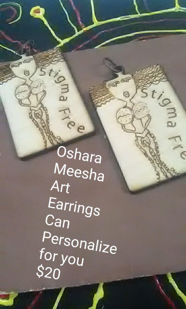 Oshara Meesha Art Personalized Earrings