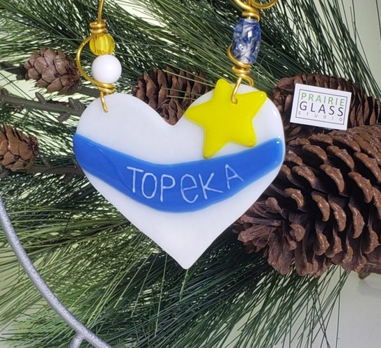 I Love Topeka ornament