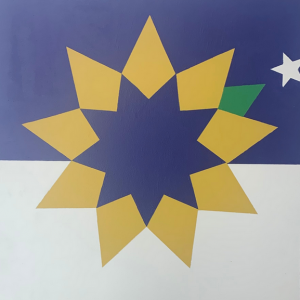 Topeka Flag Barn Quilt